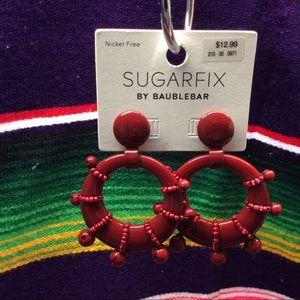 SUGARFIX BY BAUBLE BAR BEADED HOOP EARRINGS
